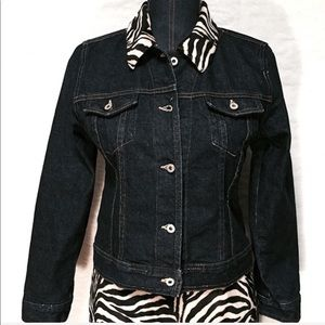 Karen Kane Small Velvet Collar Animal Print Jacket